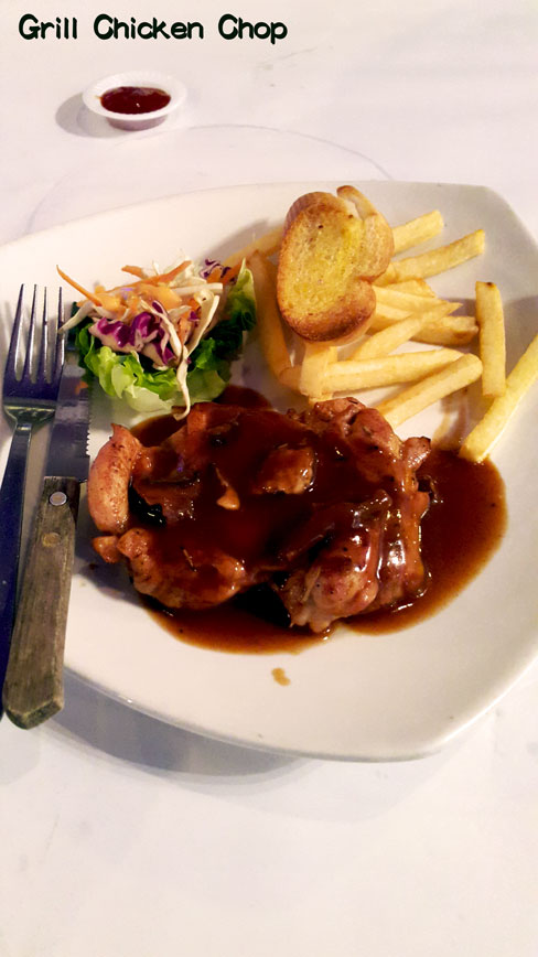 Grill Black Chicken Chop 意式烤鸡扒