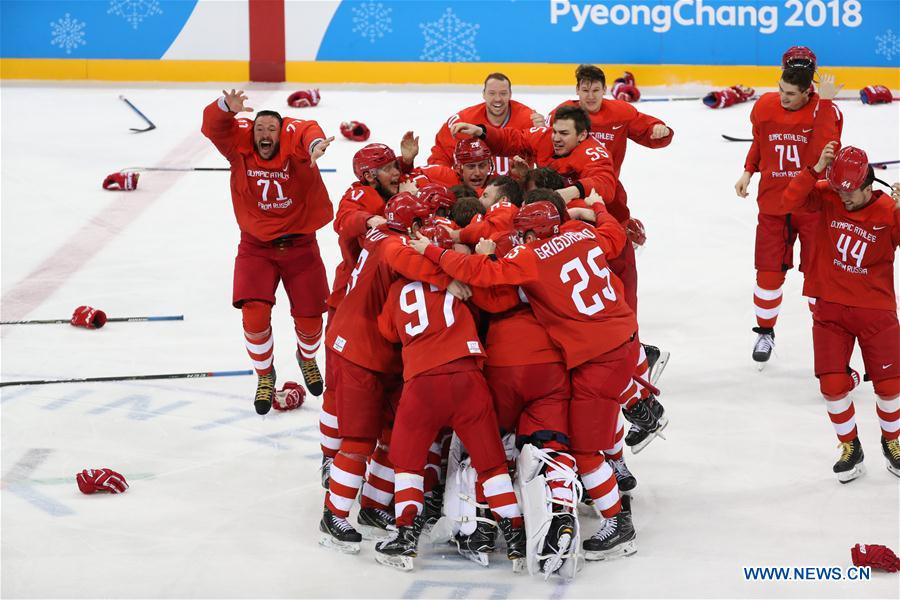 Image result for men's gold medal game hockey pyeongchang
