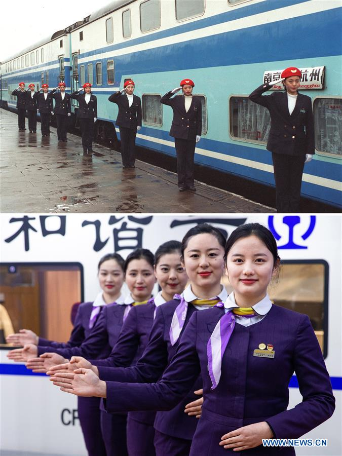 Xinhua Headlines: Moving China: The Spring Festival train journey now and then