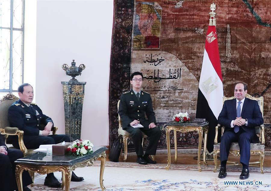EGYPT-CAIRO-SISI-WEI FENGHE-MEETING