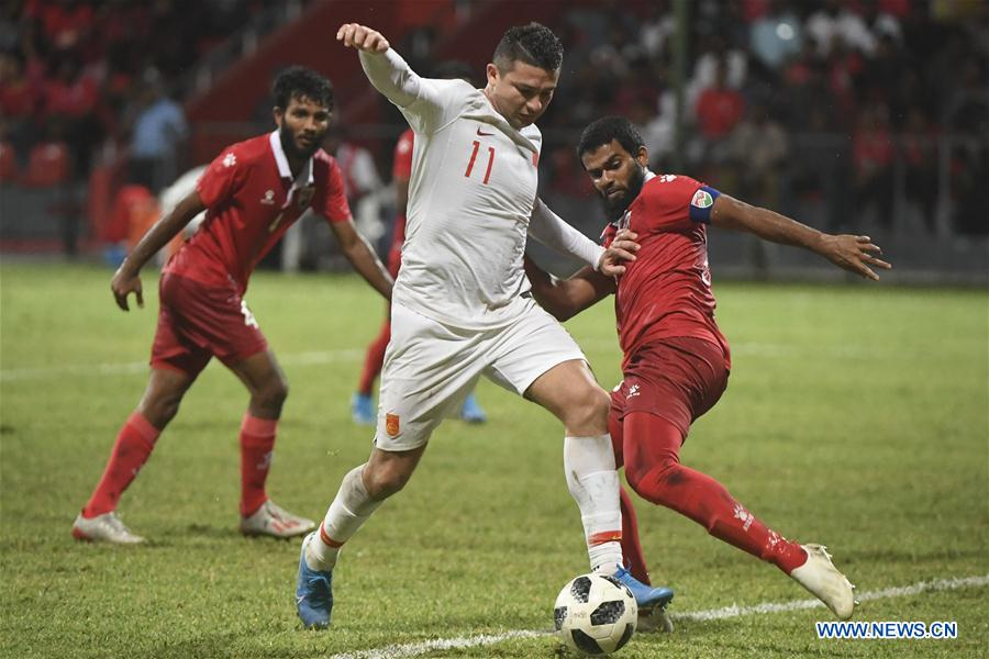 (SP)MALDIVES-MALE-SOCCER-2022 QATAR FIFA WORLD CUP-ASIAN QUALIFIERS-CHINA VS MALDIVES