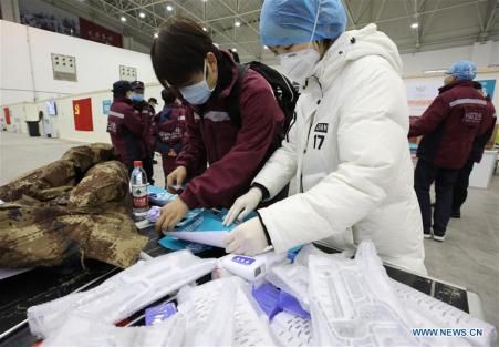 HOSPITAL CHINA-HUBEI-WUHAN-CORONAVIRUS-MAKESHIFT (CN)