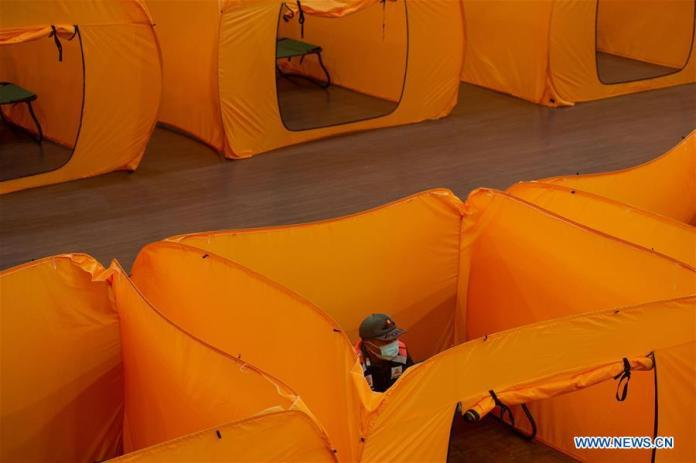 Makeshift Quarantine Tents Prepared In Central Jakarta Art Building Indonesia Xinhua English News Cn