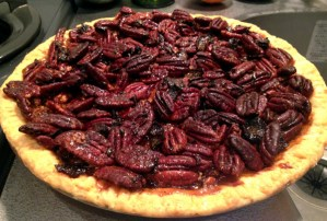Maple Whiskey Bacon Pecan Pie