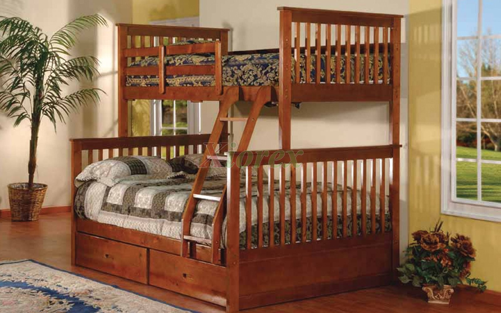 Adhara Twin Over Full Bunk Bed With Storage Drawers Xiorex