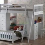 Huckleberry Loft Bunk Beds For Kids With Storage Desk Xiorex