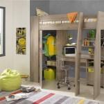 Timber Kids Loft Bunk Beds With Desk Closet Gautier Gami Furniture