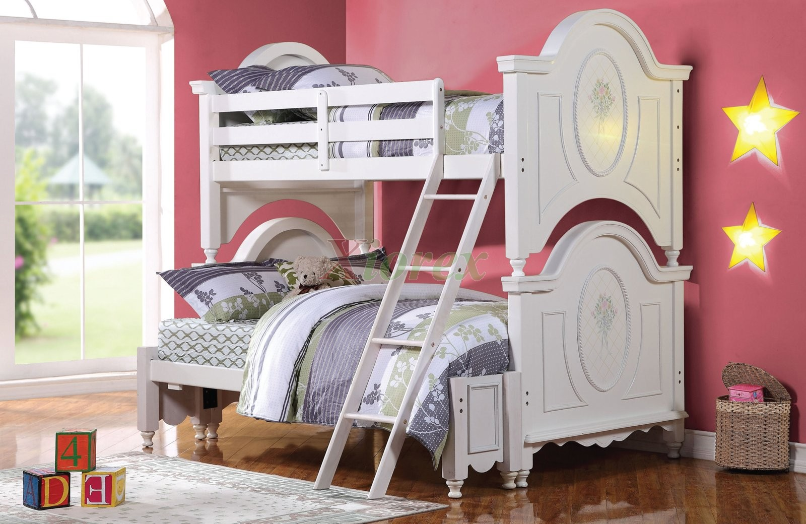 Alamak Twin Over Full Bunk Bed For Girls In White Xiorex