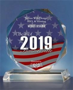 2019 Best of Summerville Web Design Award.