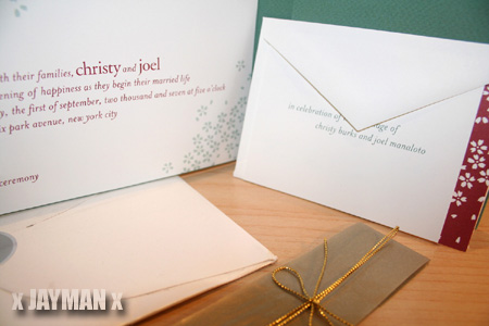 Joel's Wedding Invitation