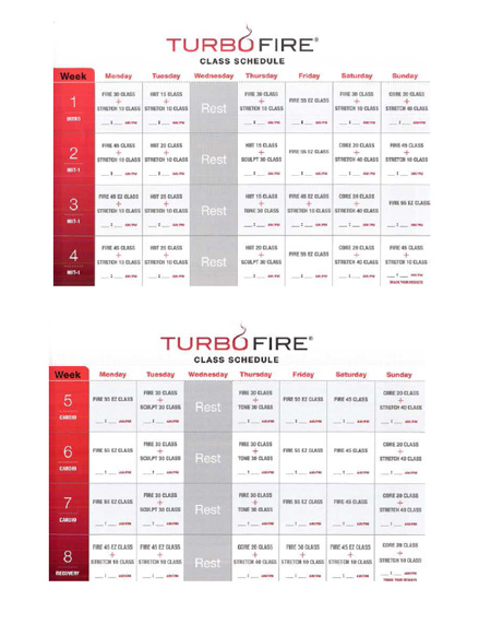 From P90X to Insanity to TurboFire