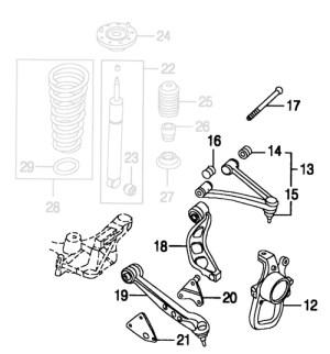 Jaguar XK8 XKR Front Suspension Parts | Jaguar XK8 and XKR