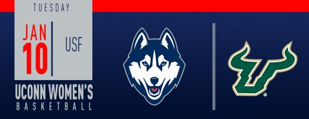 Image result for UConn Women's Basketball vs. USF jan 10 XL center