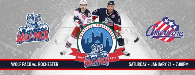Image result for Hartford Wolf Pack vs. Rochester Americans jan 21