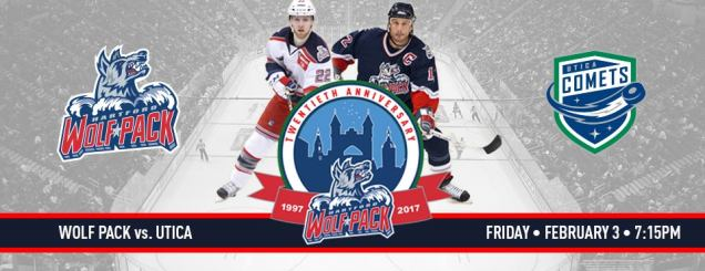 Image result for Hartford Wolf Pack vs. Utica Comets Feb 3