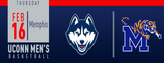 Image result for UConn Men's Basketball vs. Memphis Feb 16
