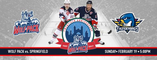 Image result for Hartford Wolf Pack Springfield Thunderbirds Feb 19