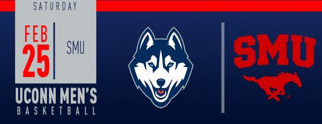 Image result for UConn Men's Basketball vs. SMU feb 25