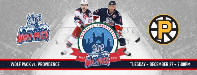 Image result for Hartford Wolf Pack vs. Providence Bruins december 27th