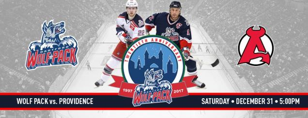 Image result for DEC 31 , 2016 Hartford Wolf Pack vs. Albany Devils december 31st