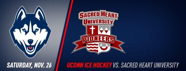 Image result for UConn Hockey vs. Sacred Heart nov 26