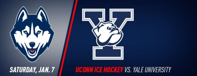 Image result for UConn Hockey vs. Yale Jan 7