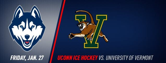 Image result for UConn Hockey vs. Vermont jan 27
