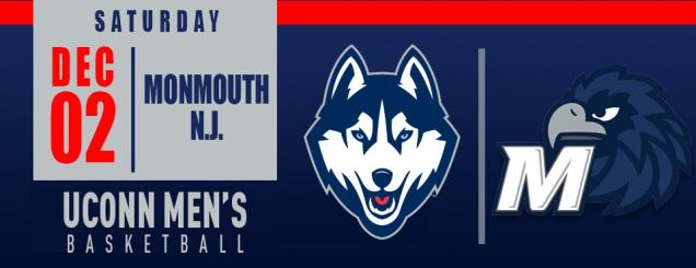 Image result for UConn Men's Basketball vs. Monmouth N.J.