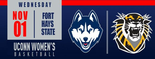 Image result for UConn Women's Basketball vs. Fort Hays State