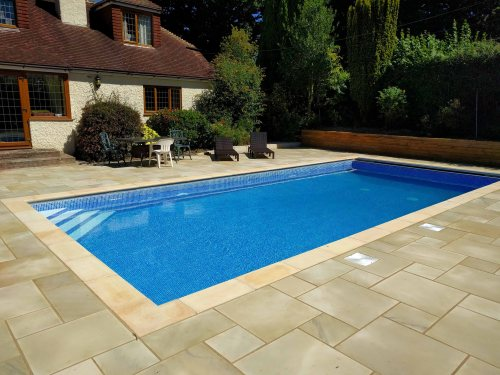Outdoor On-Site Lined Swimming Pool