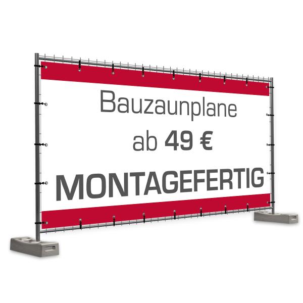 Bauzaunbanner Pvc Plane Für Bauzaun 337 X 174 Cm Montagefertig