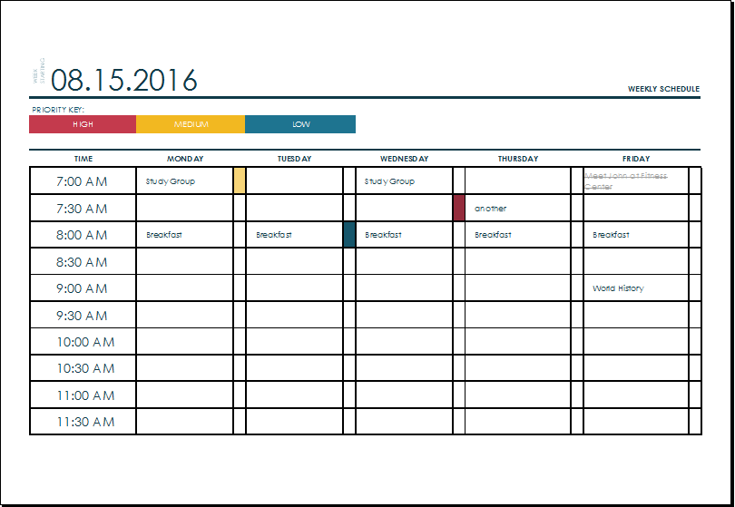 Weekly Timeline Template free for all stock photos social media – Free Weekly Schedule Template