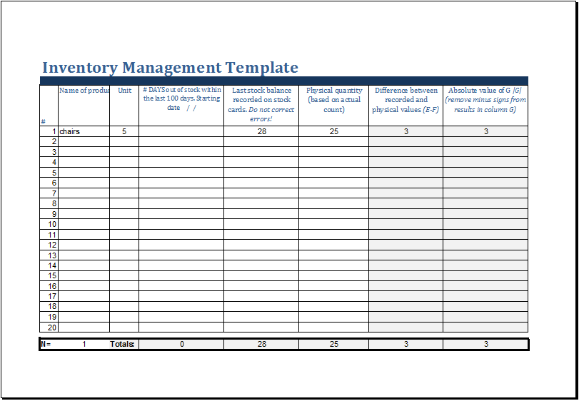 Inventory Template Excel excel inventory template wordscrawl com – Free Excel Inventory Template