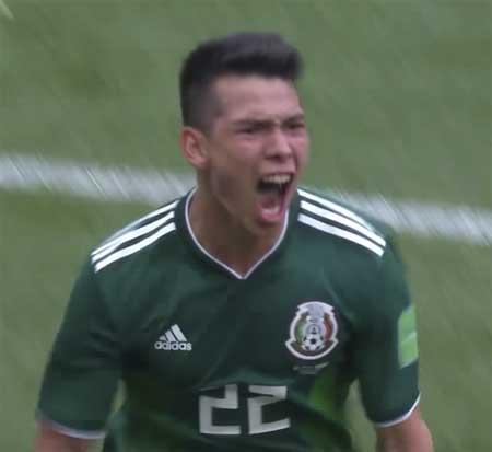 Hirving Lozano mål Tyskland VM