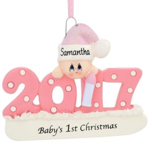 babys first christmas ornament personalized