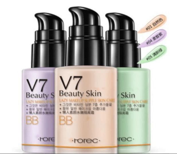 Мультифункциональная ББ - база под макияж Rorec V7 Beauty Skin от «BIOAQUA» №1 натуральный(9323)