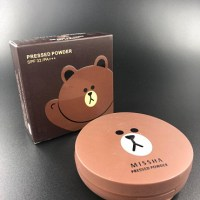 Пудра компактная  Missha Line Friends Pressed powder SPF 35 16 гр (тон 03)