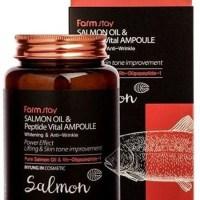 Многофункциональная сыворотка с маслом лосося FarmStay Salmon Oil and Peptide Vital Ampoule