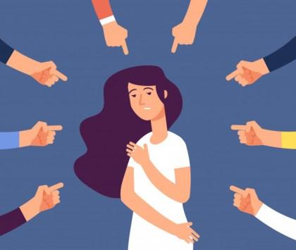 ציור של אישה כאשר 6 אצבעות מופנות כלפיה