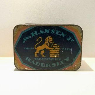 Tobaksdåse: M. Hansen Jr. - Tobaksfabrik Haderselv
