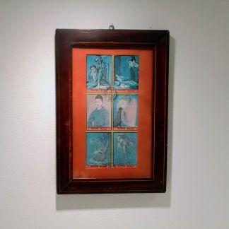 Picasso-frimærker i ramme