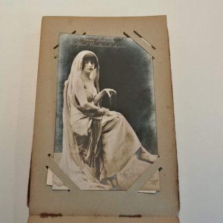 Album med postkort med danske skuespillerinder