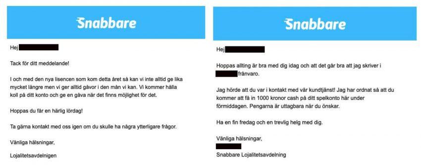 Snellere illegale bonussen Zweden