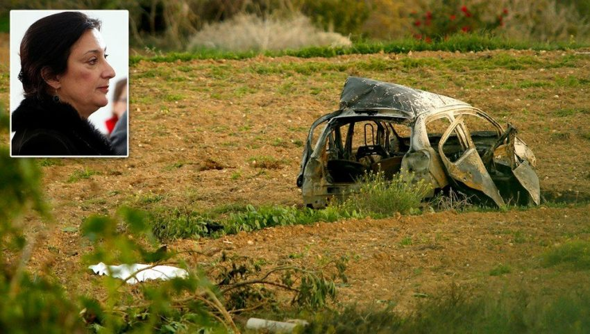 Daphne Murder Journalist Car
