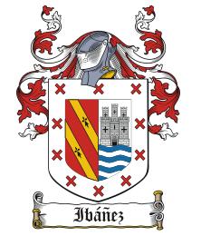 escudo de armas de Ibañez con ñ de españa