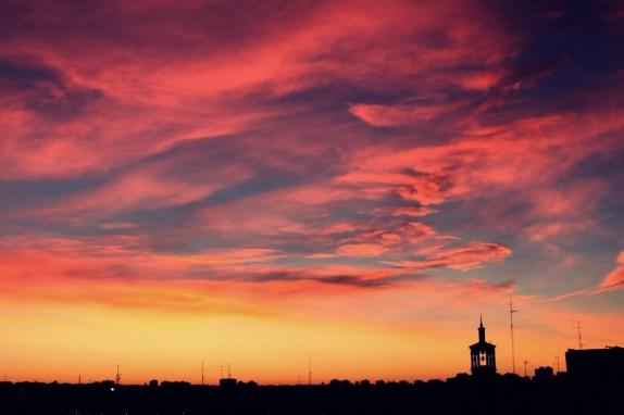 Puesta de sol en MADRID. Con ñ de España.