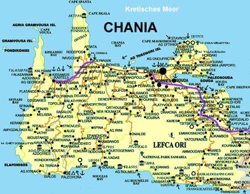 Carte De Le Cane Chania Crte