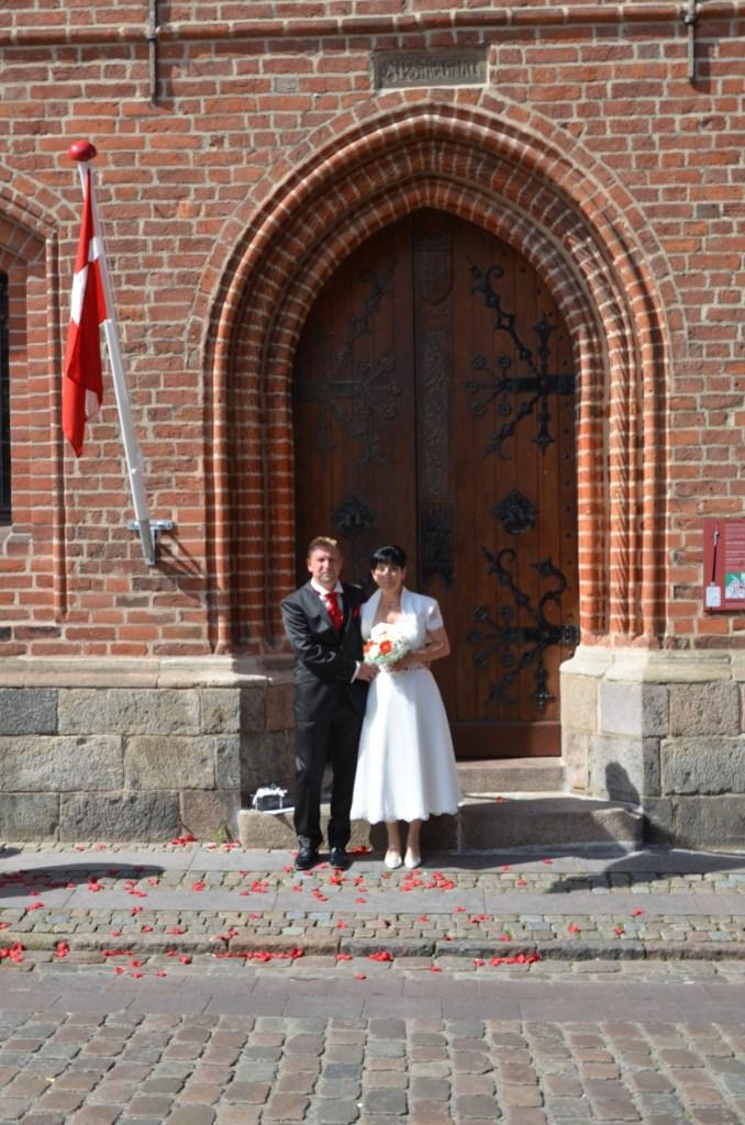 Nach der Trauung Rathaus Ribe(1)