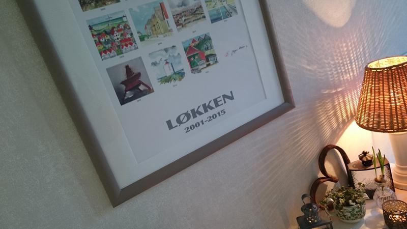 Dänemark wo das Glück wohnt Løkken Plakat Flureinrichtung