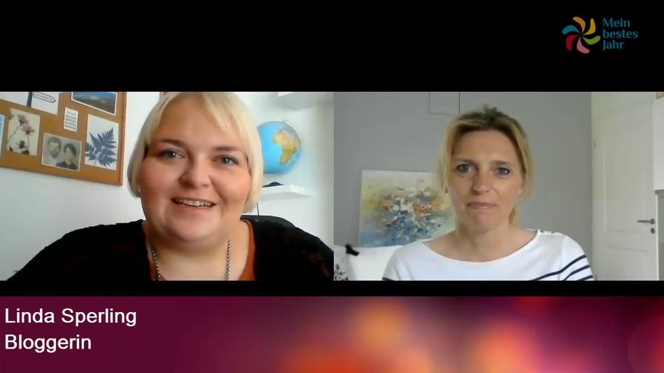 Mein bestes Jahr Onlinekonferenz Interview mit Linda Sperling